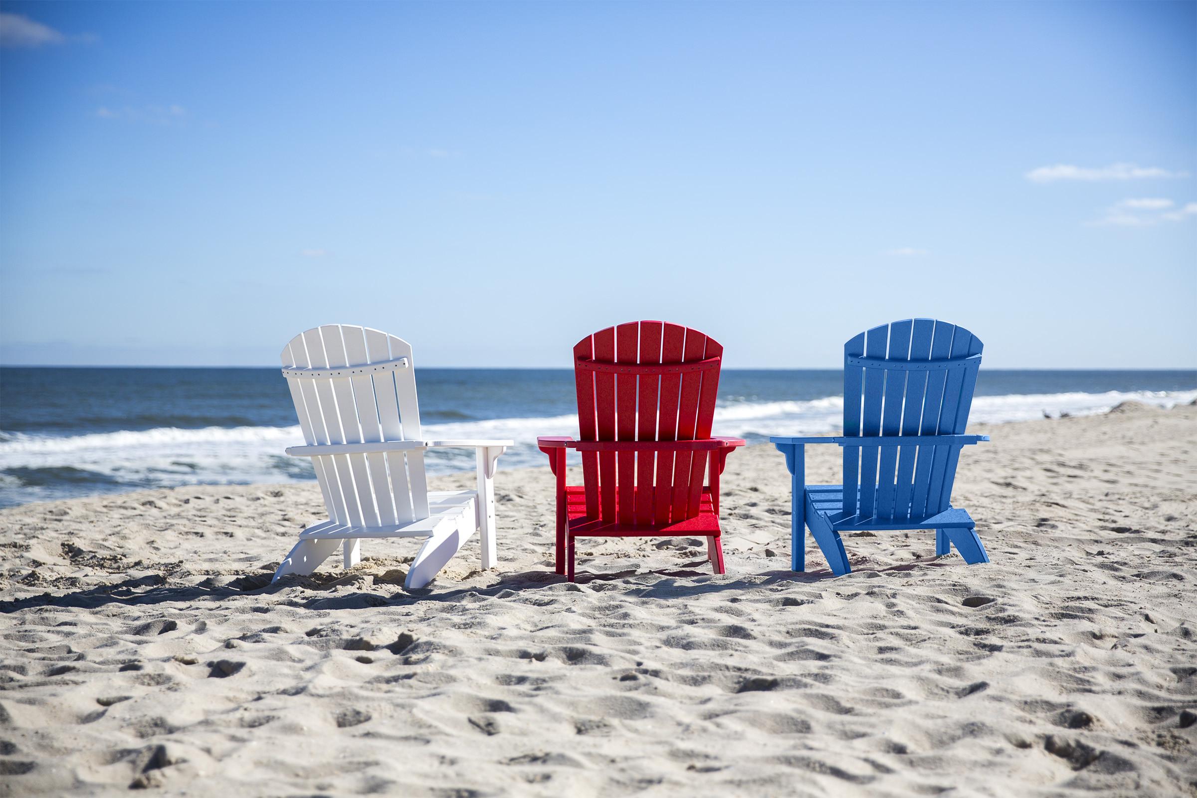 Fan Back Polywood Adirondack Chairs