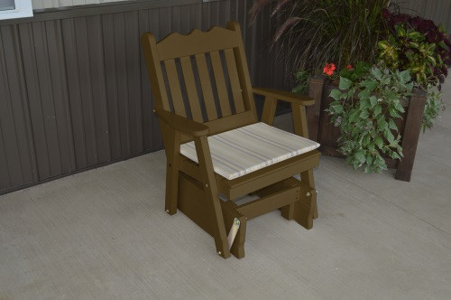 Royal English Yellow Pine Glider Chair - Coffee w/ Cushion