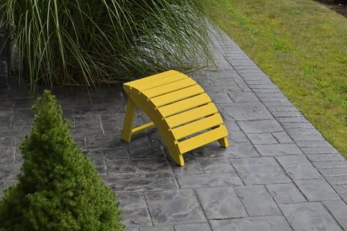 Folding Yellow Pine Ottoman - Canary Yellow