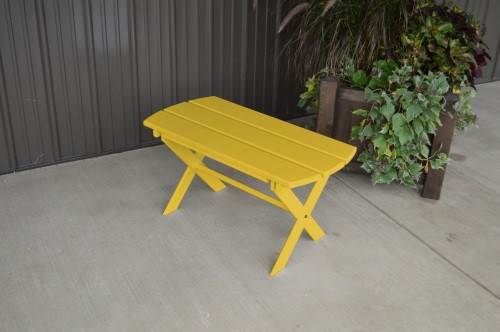 Folding Coffee Yellow Pine Table - Canary Yellow