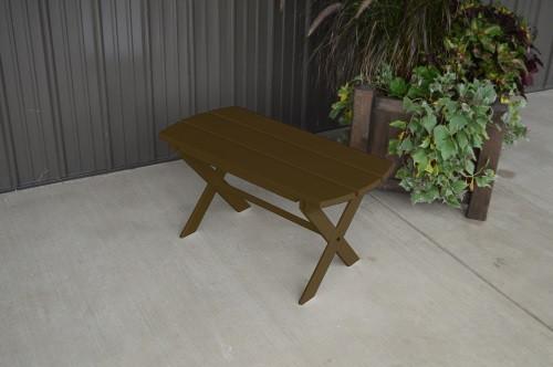 Folding Coffee Yellow Pine Table - Coffee