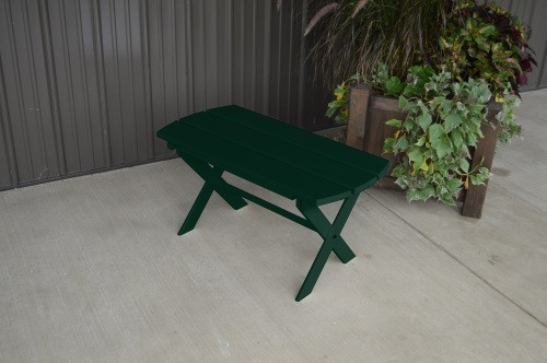 Folding Coffee Yellow Pine Table - Dark Green