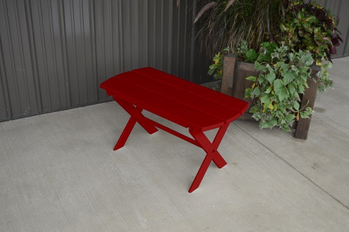 Folding Coffee Yellow Pine Table - Tractor Red