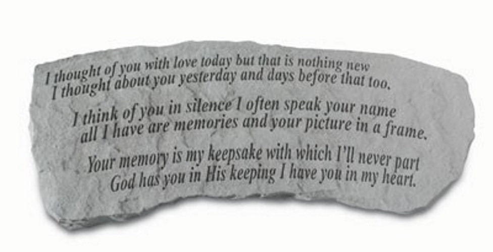 I thought of you with love today...Memorial Garden Bench