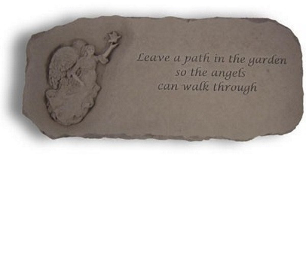 Leave a path in the garden...Decorative Garden Bench w/ Angel