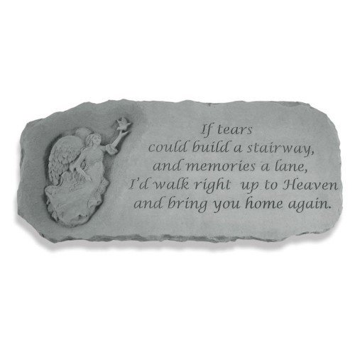 If tears could build a stairway...Memorial Garden Bench w/ Angel