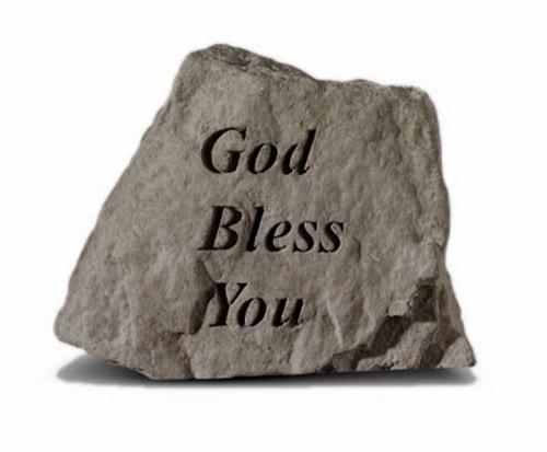 God Bless You Decorative Garden Stone