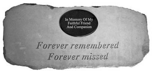 Forever Remembered...with Marble Heart Memorial Garden Bench