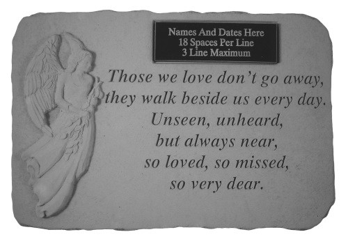 Those We Love Don't Go Away...w/ Angel Memorial Garden Stone
