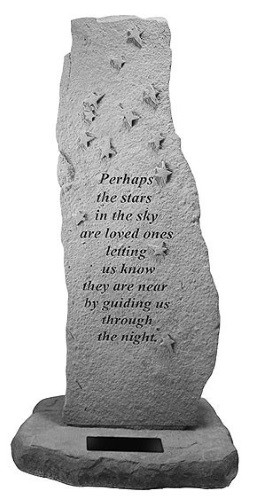 Perhaps the Stars in the Sky...Memorial Garden Stone w/ Stars Totem