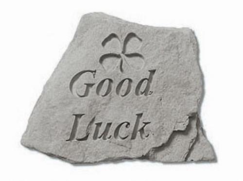 Good Luck Decorative Garden Stone