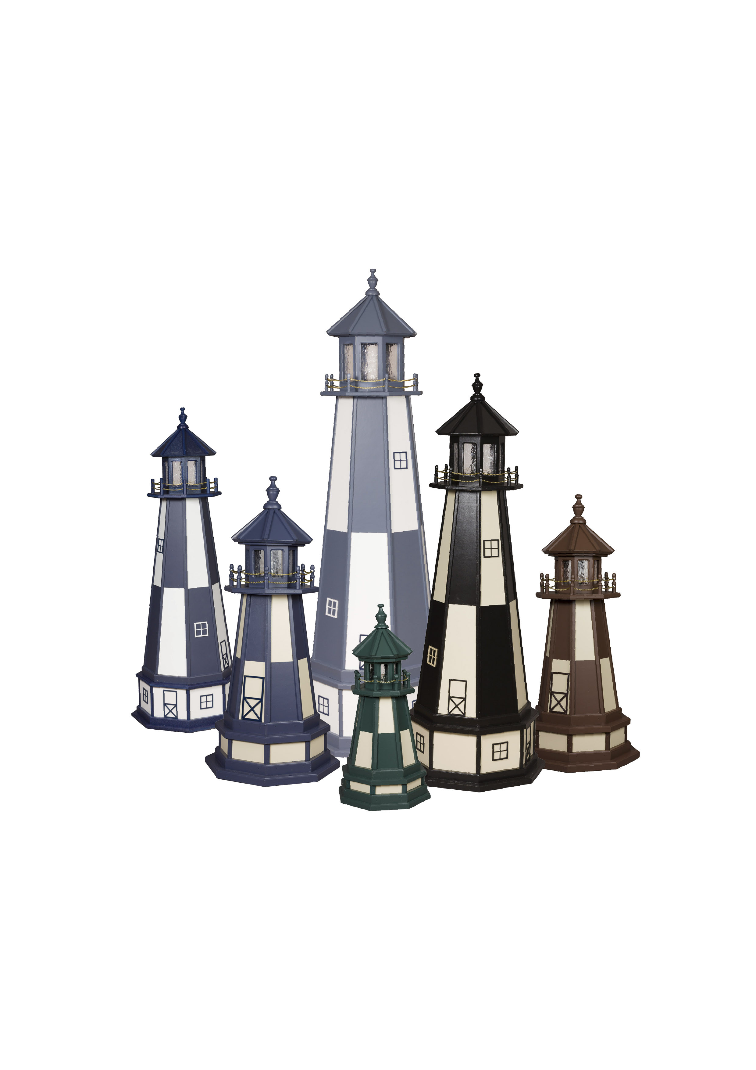 Cape Henry Wooden Lighthouses Group Picture