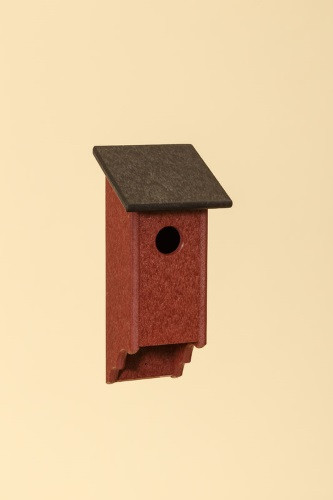 Poly Wood Bluebird House - Cherry Base/Brown Roof