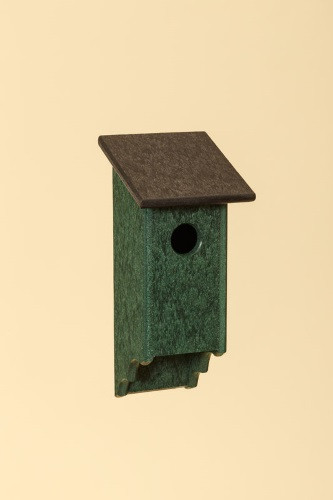 Poly Wood Bluebird House - Green Base/Black Roof