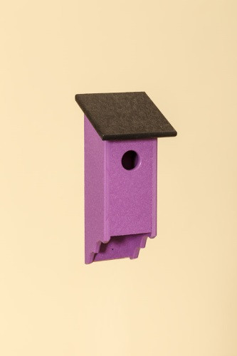 Poly Wood Bluebird House - Purple Base/Black Roof