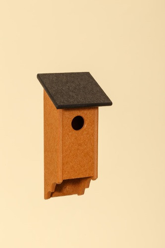 Poly Wood Bluebird House - Cedar Base/Black Roof