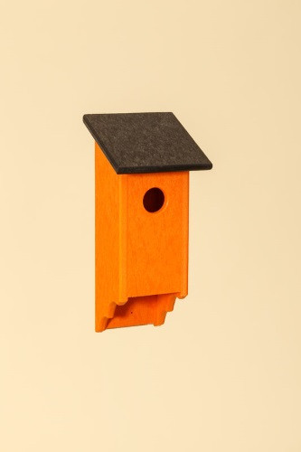 Poly Wood Bluebird House - Orange Base/Black Roof