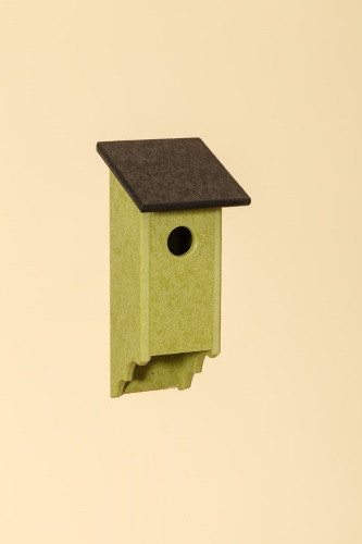 Poly Wood Bluebird House - Lime Base/Black Roof