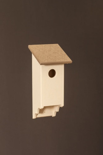 Poly Wood Bluebird House - Ivory Base/Weatherwood Roof