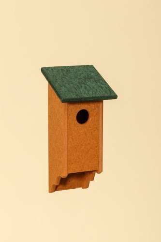 Poly Wood Bluebird House - Cedar Base/Green Roof