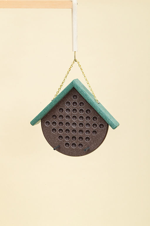 Polywood Peanut Butter Feeder - Brown/Teal