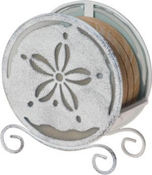 Sand Dollar Coaster Holder