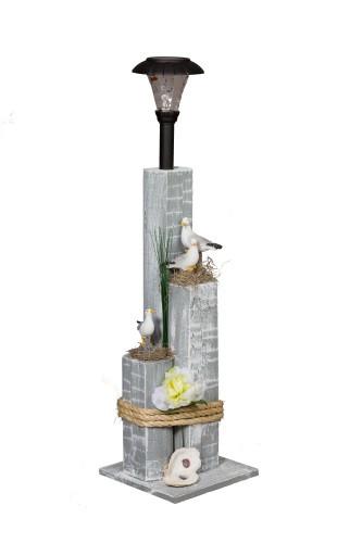 Sea Gull Family Nautical Solar Post