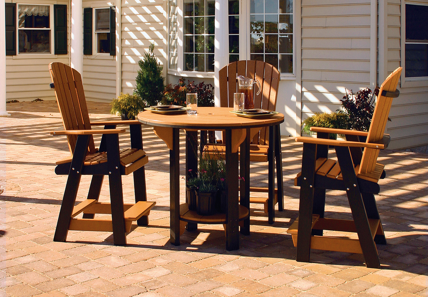 """42"""" Pub Table- Cedar & Black  (Other pieces in set sold separately)"""