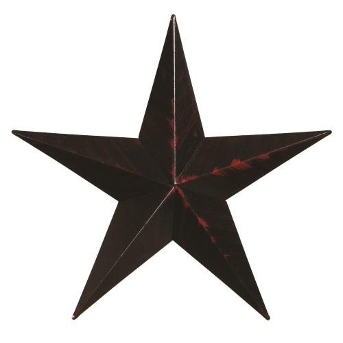 "40"" Decorative Amish Barn Star - Black"