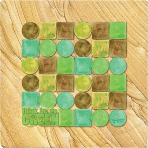 Think.Be.Go.Green Coaster Set - Naturals Collection