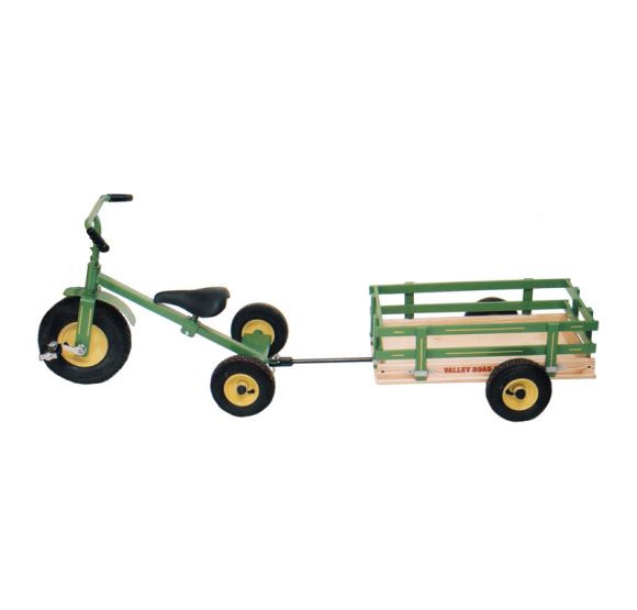 Valley Road Speeder Trike - Model #90 Green with added trailer Model #100AT