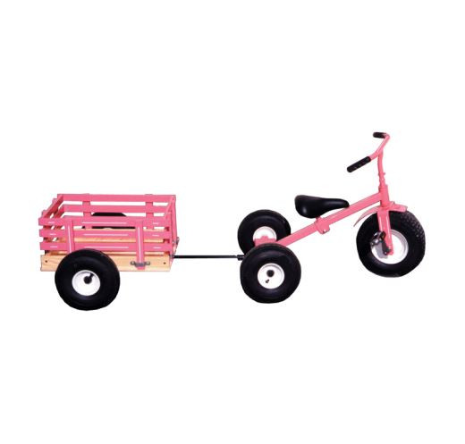 Valley Road Speeder Trike - Model #90 Pink with added trailer Model #100AT
