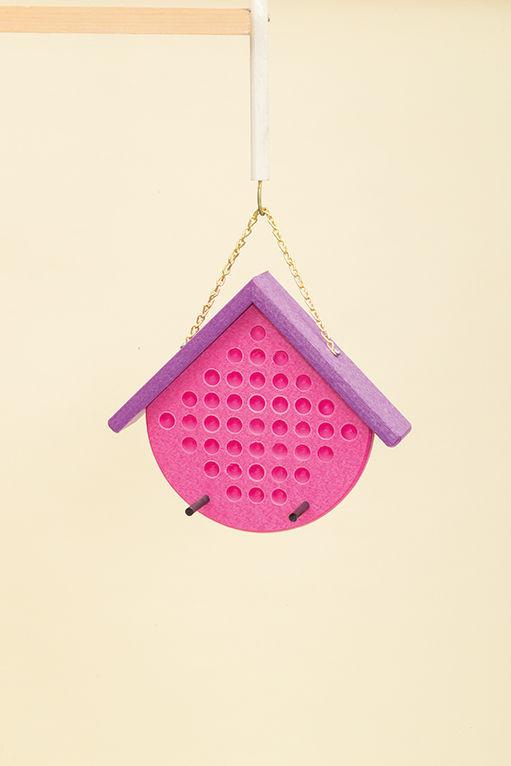 Polywood Peanut Butter Feeder - Pink/Purple