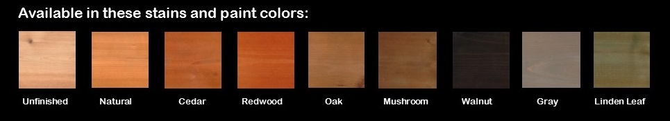 A & L Woodworking Cedar Colors