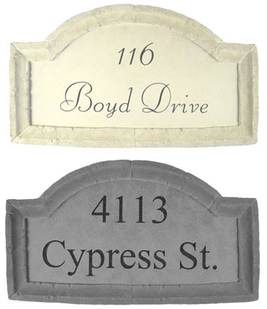 Large Crescent Top Address Plaque