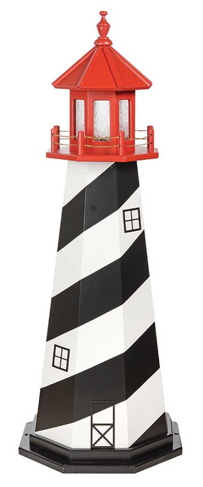 5' St. Augustine Wooden Lighthouse