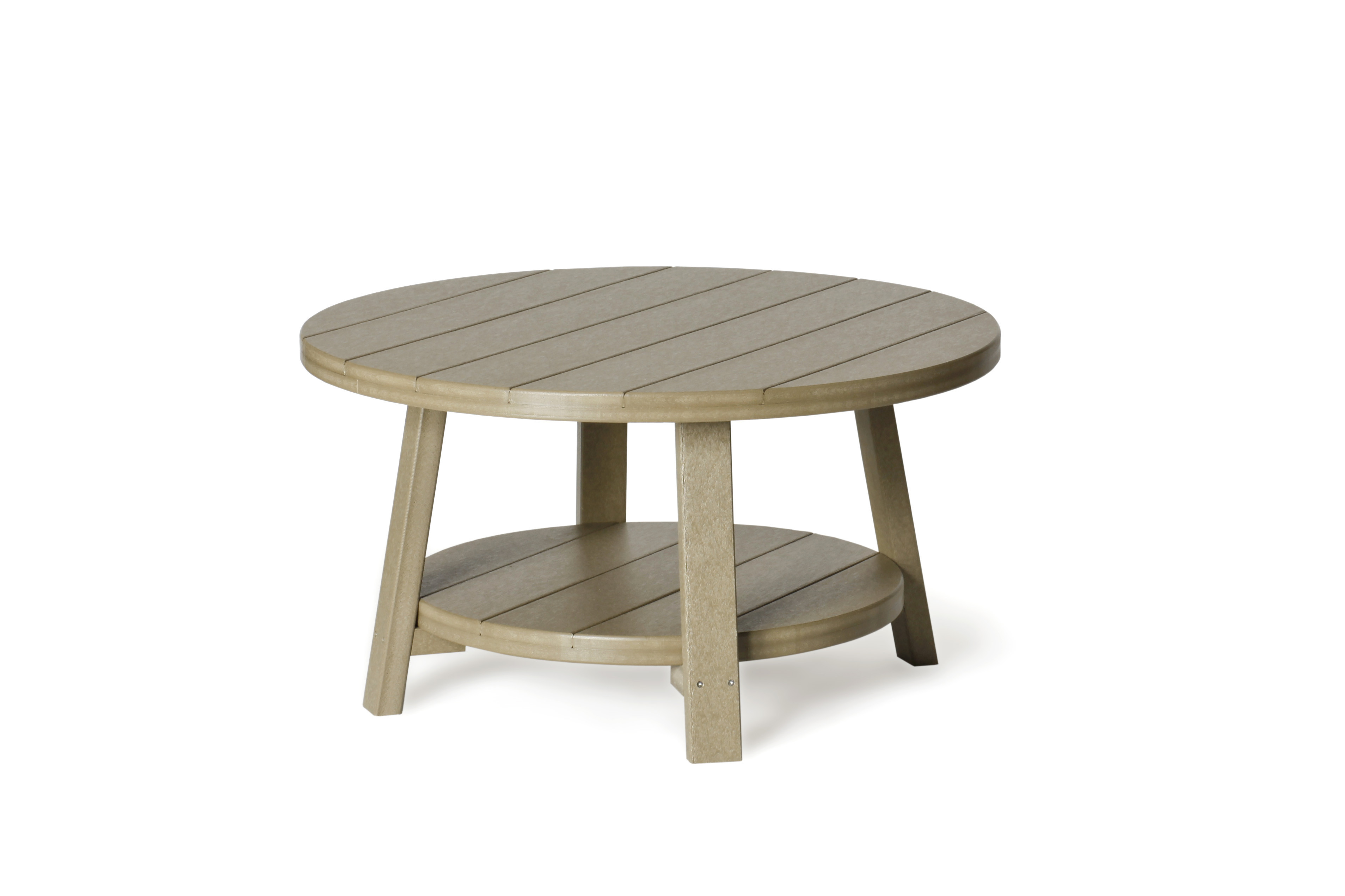 Poly Conversation Table - Weatherwood