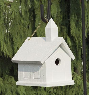 Church Birdhouse - White