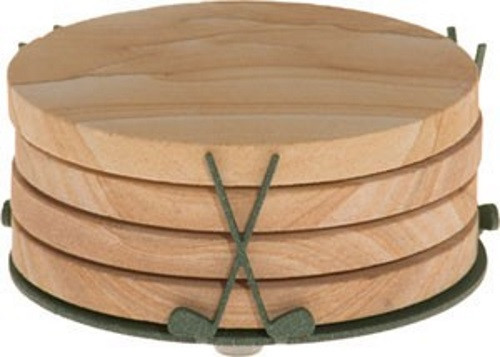 Golf Coaster Holder - Forest Spruce
