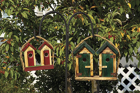 His/Hers Outhouse Birdhouse