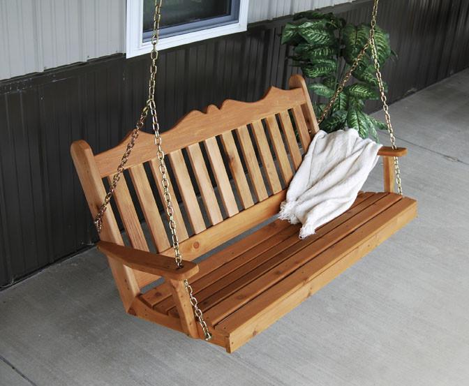 4' Cedar Royal English Garden Swing
