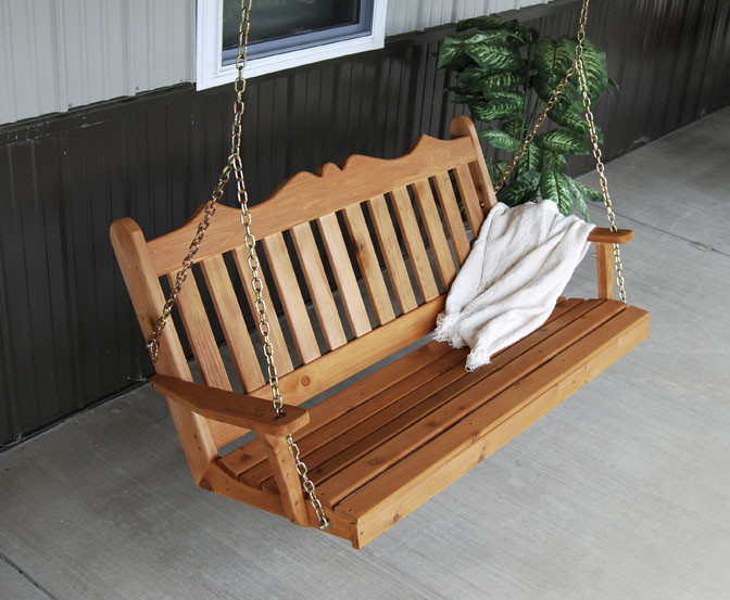 6' Cedar Royal English Garden Swing