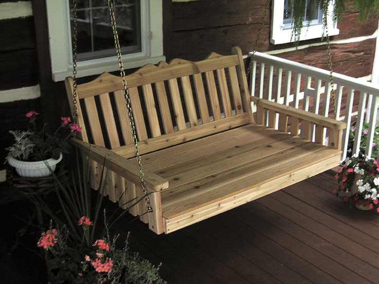 6' Cedar Royal English Garden Swingbed