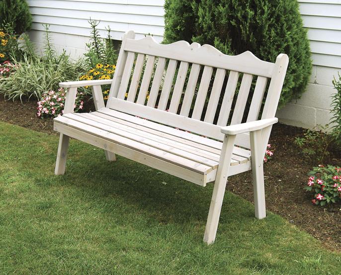 4' Cedar Royal English Garden Bench