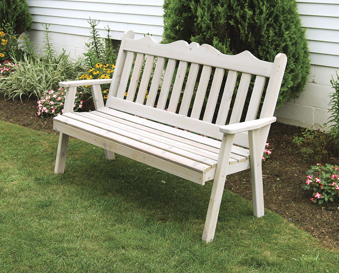 6' Cedar Royal English Garden Bench