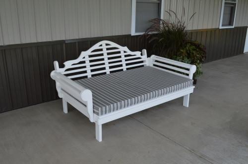 4' Marlboro Yellow Pine Daybed - White w/ Cushion