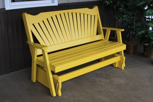 4' Fanback Yellow Pine Glider - Canary Yellow