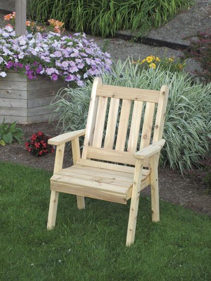 Traditional English Dining Chair - Cedar