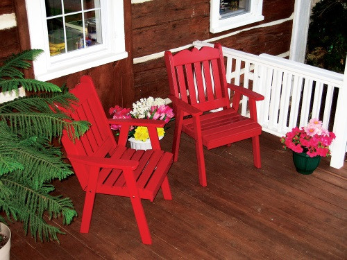 Royal English Yellow Pine Dining Chair - Tractor Red