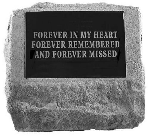 Headstone with Urn Cast In Bottom Pet Memorial Garden Stone